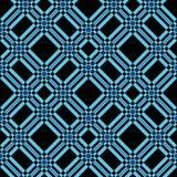 Geruit Schots wollen stof naadloze vectorpatronen in zwarte blauwe kleuren royalty-vrije illustratie