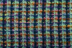 Geruit Schots wollen stofpatroon Groene plaiddruk als achtergrond Stock Afbeeldingen