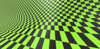 Geruit textuur 3D patroon als achtergrond in perspectief Royalty-vrije Stock Afbeelding