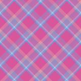 Geruite achtergrond in helder roze en hemel blauwe tonen royalty-vrije illustratie