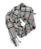 Geruite die sjaal op een witte achtergrond wordt geïsoleerd Royalty-vrije Stock Fotografie