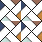 Geruite gekleurde de driehoeken naadloze achtergrond van de vloertegel samenvatting Vector illustratie royalty-vrije illustratie
