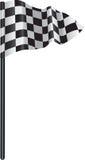 Geruite, geruite golfvlag Stock Afbeelding