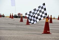 Geruite het rennen vlag Stock Fotografie