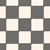 Geruite naadloze textuur met diagonale lijnen, vierkanten Stock Foto's