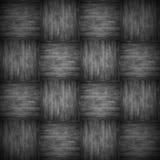 Geruite patroon houten zwarte achtergrond Royalty-vrije Stock Foto