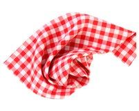 Geruite rode geïsoleerde picknickdoek Royalty-vrije Stock Foto