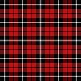 Geruite Schots wollen stof van het Kerstmis het nieuwe jaar Patroon Schotse kooi vector illustratie