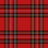 Geruite Schots wollen stof van het Kerstmis het nieuwe jaar Patroon Schotse kooi royalty-vrije illustratie