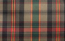 Geruite Schotse wollen stof royalty-vrije illustratie