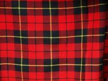 Geruite Schotse wollen stof Stock Afbeelding