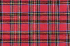 Geruite Schotse wollen stof Stock Foto's