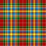Geruite Schotse wollen stof royalty-vrije stock fotografie