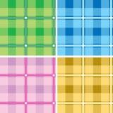 Geruite Schotse wollen stof multi vector illustratie