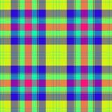 Geruite Schotse wollen stof, plaidpatroon De kleur van de kalkstempel stock foto's