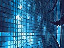 Geruite technologie-achtergrond - abstract digitaal geproduceerd beeld Stock Fotografie