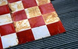 Geruite Textuur 2 van het Tin Stock Foto's
