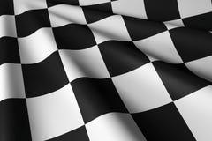 Geruite Vlag - Close-up & Persoonlijk Stock Afbeeldingen