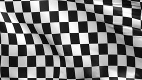 Geruite vlag, de achtergrond van de rasvlag stock video