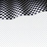 Geruite vlag op transparante achtergrond Royalty-vrije Stock Foto