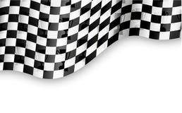 Geruite vlagachtergrond met trofee stock illustratie