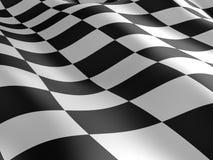 Geruite vlagtextuur. Stock Foto