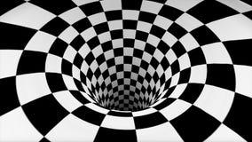 Geruite zwart-witte textuur in perspectief stock foto