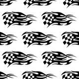 Geruite zwart-witte vlag vector illustratie