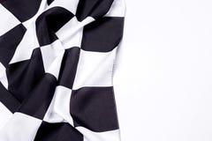 Geruite zwart-witte vlag De ruimte van het exemplaar royalty-vrije stock foto's