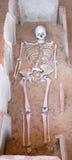 Gerulata - Rusovce -斯洛伐克-干部形式老罗马坟茔 免版税图库摄影