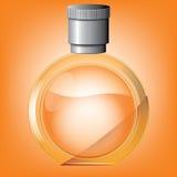 Gerundete Parfümflasche Lizenzfreie Stockbilder