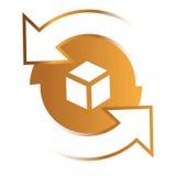 Gerundete Richtungs-Pfeil-Ikone Lizenzfreies Stockfoto