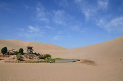 Gerundeter See in DunHuang Stockfoto