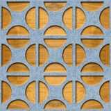 Gerundetes dekoratives Muster - Innenwanddekoration stock abbildung