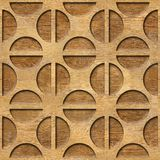 Gerundetes dekoratives Muster - Innenwanddekoration stockfoto
