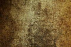 Geruïneerde samenvatting van de achtergrond de bruine muurtextuur grunge gekrast Stock Fotografie