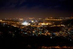 Gerusalemme alla notte Immagini Stock Libere da Diritti