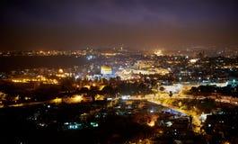 Gerusalemme alla notte Fotografia Stock Libera da Diritti