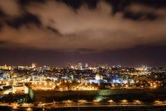 Gerusalemme alla notte Immagine Stock Libera da Diritti