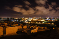 Gerusalemme alla notte Fotografia Stock