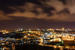 Gerusalemme alla notte Immagine Stock