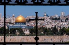 Gerusalemme, cupola della roccia, traversa Fotografia Stock