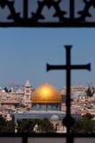 Gerusalemme, cupola della roccia, traversa Fotografie Stock Libere da Diritti