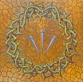 Gerusalemme - della corona delle spine come la decorazione sull'altare laterale della chiesa di St Stephen da 20 centesimo Fotografie Stock Libere da Diritti
