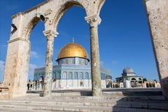 Gerusalemme - i DOM di roccia sul Temple Mount nella vecchia città Immagine Stock Libera da Diritti