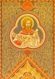 Gerusalemme - il profeta Jesaja Mosiaic sull'altare laterale della chiesa luterana evangelica dell'ascensione Immagini Stock Libere da Diritti