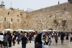 Gerusalemme Israel Western Wall March 23, 2015 Immagine Stock