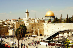 Gerusalemme, Israele 20 agosto 2014: Moschea della roccia a Gerusalemme Fotografie Stock Libere da Diritti