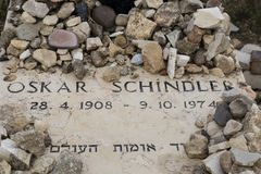 GERUSALEMME, ISRAELE - 17 dicembre 2016: Oskar Schindler Grave Fotografia Stock Libera da Diritti