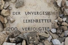 GERUSALEMME, ISRAELE - 17 dicembre 2016: Oskar Schindler Grave Immagine Stock